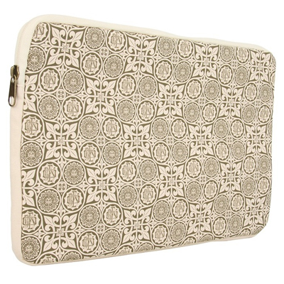 "OBEY Laptop Case FLOWER MONOGRAM 15"" army/cream"