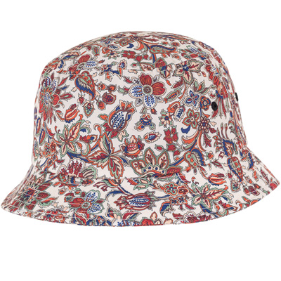 YUPOONG Bucket Hat FLOWER PATTERN beige