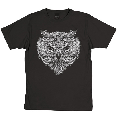 DEPHECT T-Shirt FOLIAGE charcoal