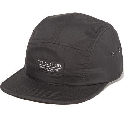 THE QUIET LIFE 5Panel Cap FOUNDATION black