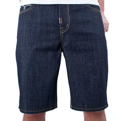 LRG Denim Shorts FREE SOCIETY raw indigo