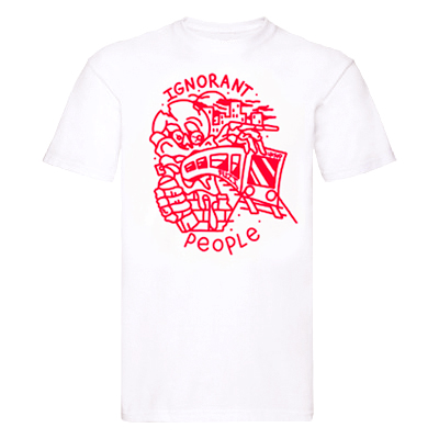 FUZI X LAYUP T-Shirt white/red