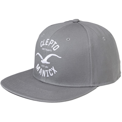CLEPTOMANICX Snap Back Cap GAMES heather grey
