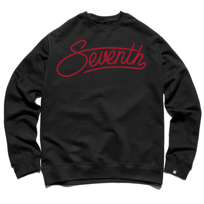 7TH LETTER Sweater GARY SCRIPT black/red
