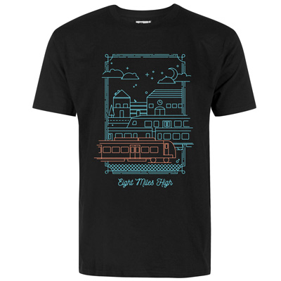 EIGHT MILES HIGH T-Shirt GHOSTYARD black