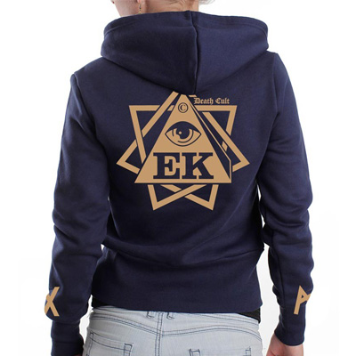 EGOKING Girl Hooded Zipper RUNES II navy/beige
