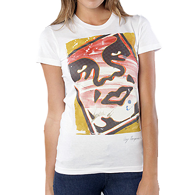 OBEY Girl Shirt WARHOLA antique white