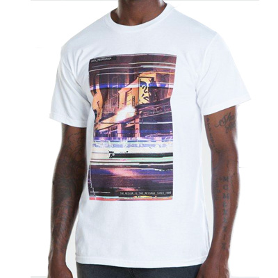 OBEY T-Shirt GLITCH white