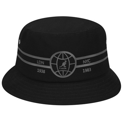 KANGOL Bucket Hat GLOBE MESH black