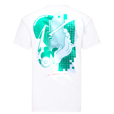 UNDERPRESSURE T-Shirt GOLDEN GREEN white/green
