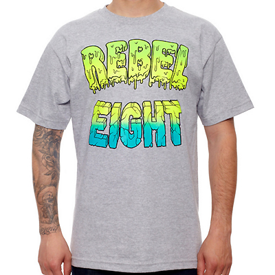 REBEL8 T-Shirt GOO BLOCK grey