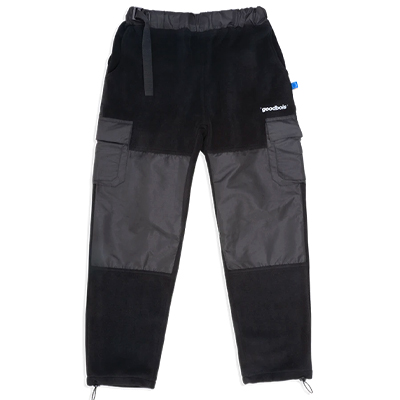 GOODBOIS Fleece Track Pants OFFICIAL CARGO black