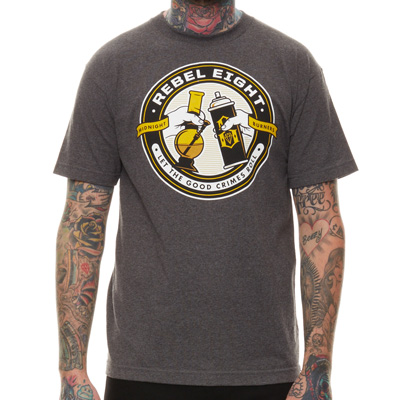 REBEL8 T-Shirt GOOD CRIMES heather charcoal