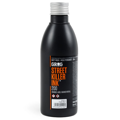 GROG Street Killer Ink 200ml black