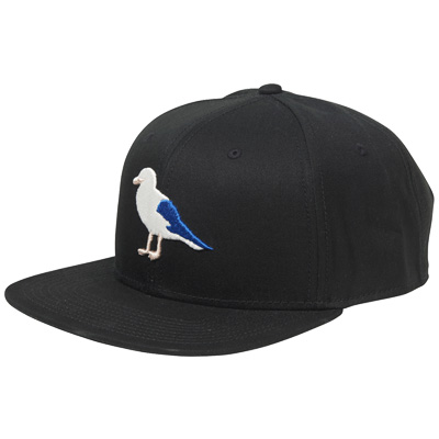 CLEPTOMANICX Snap Back Cap GULL 2 black