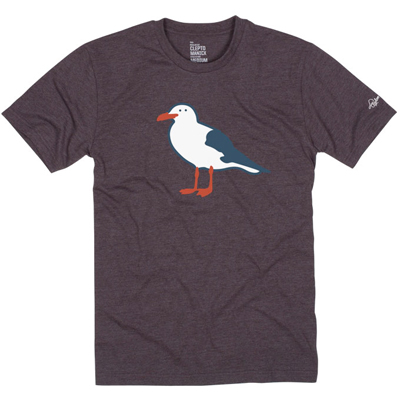 CLEPTOMANICX T-Shirt GULL heather dark brown