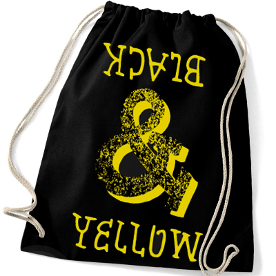 FOOL IS COOL Gym Bag BLACK & YELLOW black