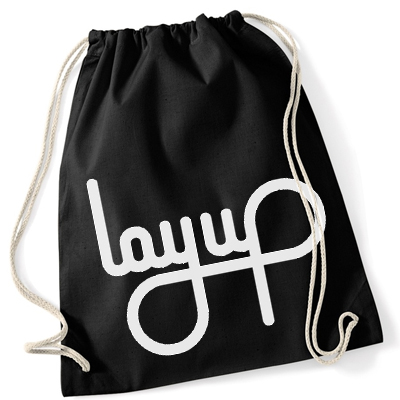 LAYUP Gym Bag LOGO cotton black