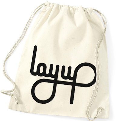 LAYUP Gym Bag LOGO cotton natural