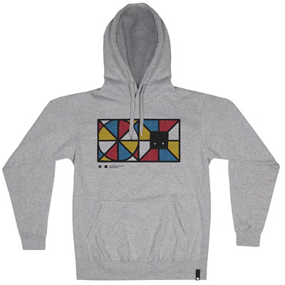 HEROKID Hoody HAND MIXED heather grey