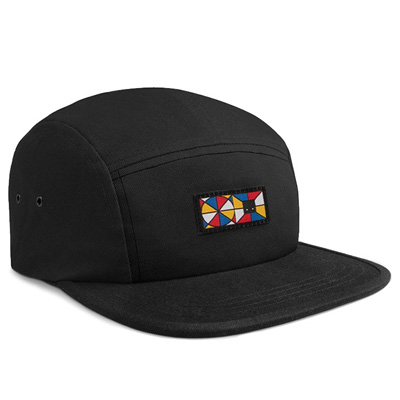 HEROKID 5Panel Cap HAND MIXED black