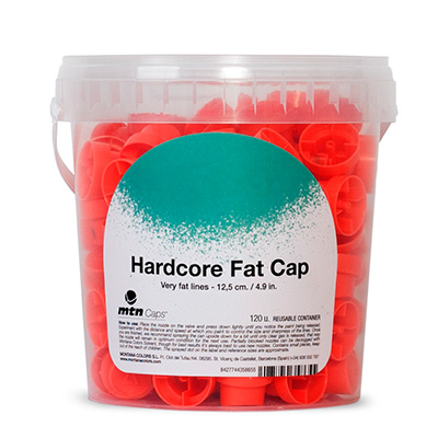 FAT Cap HARDCORE orange-black - 120er Bucket