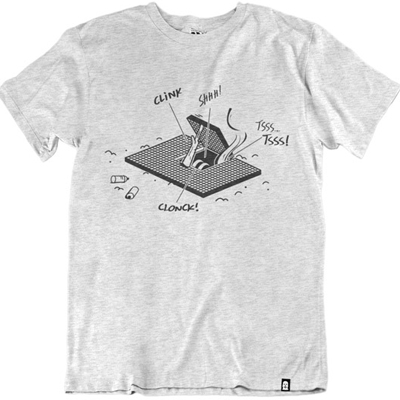VANDALS ON HOLIDAYS T-Shirt HATCH STORIES ash grey