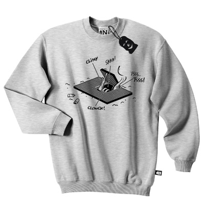 VANDALS ON HOLIDAYS Sweater HATCH STORIES heather grey