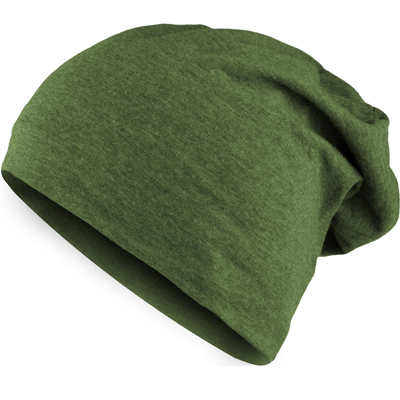 HEATHER JERSEY Summer Beanie lime heather