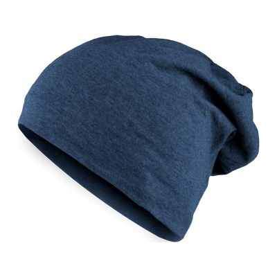 HEATHER JERSEY Summer Beanie navy heather