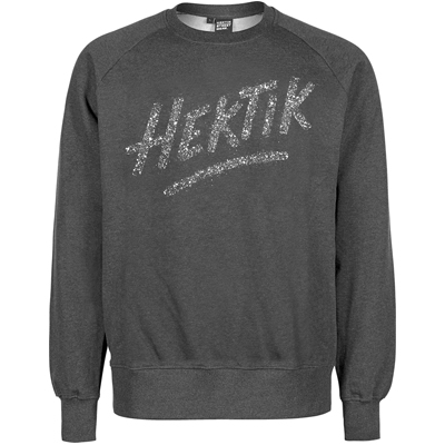 HEKTIK Sweater SPECKLED LOGO black/white