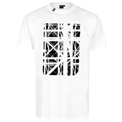 HEKTIK T-Shirt GRAPHIC SURGERY white/black