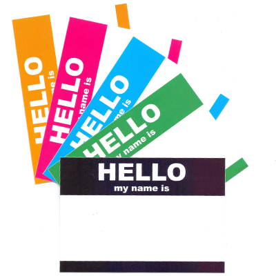 Sticker Pack HELLO MY NAME IS... Large (50 pcs)
