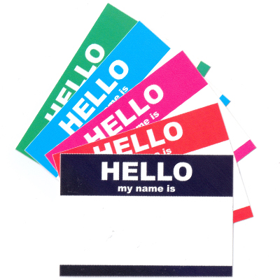 Sticker Pack HELLO MY NAME IS... Small (50 pcs)