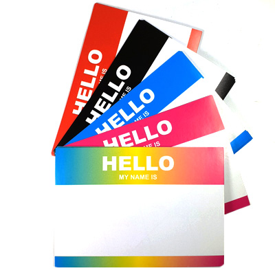 Sticker Pack HELLO MY NAME IS... Large (50pcs)