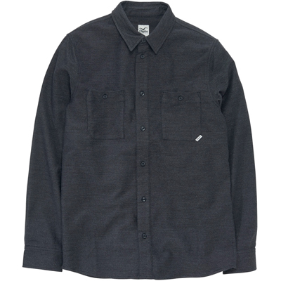 CLEPTOMANICX Shirt WORK heather black