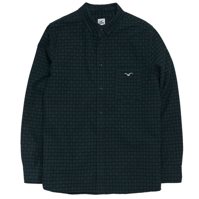 CLEPTOMANICX Shirt BROKEN CHECK black/green