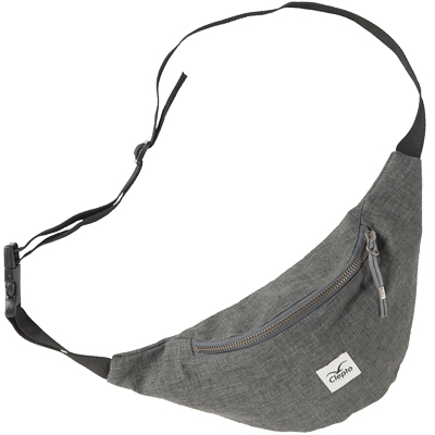 CLEPTOMANICX Hipbag HEMP heather dark grey
