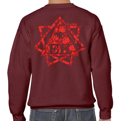 EGOKING Sweater HEPTAGRAM FLOWERS burgundy