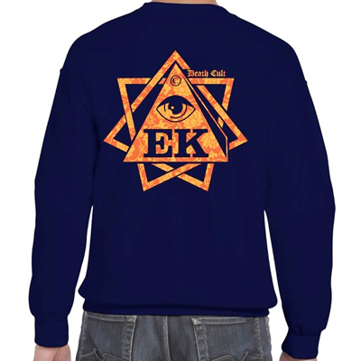 EGOKING Sweater HEPTAGRAM FLOWERS navy