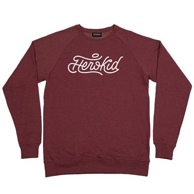 HEROKID Sweater SIGNATURE heather burgundy