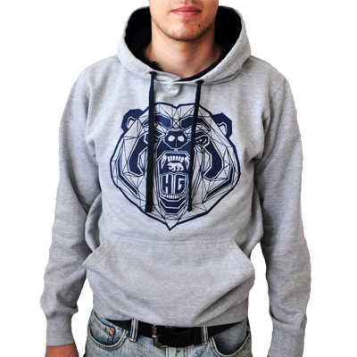 HG STREETWEAR Hoody BEAR heather grey