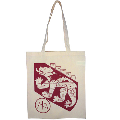 HG STREETWEAR Tote Bag BERN PARADISE heather grey