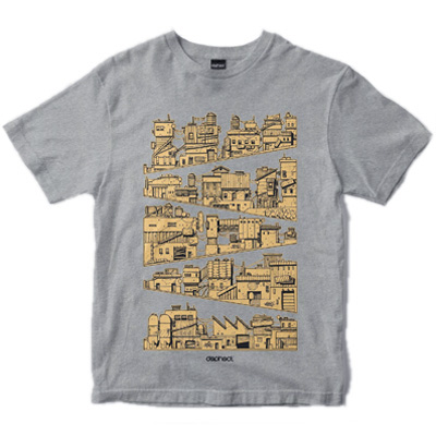 DEPHECT T-Shirt HILLSCAPE heather grey