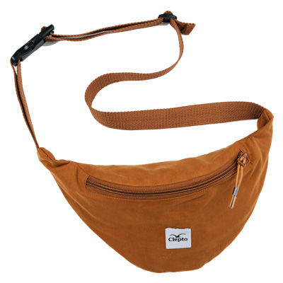 CLEPTOMANICX Hipbag C.I. PATCH bone brown
