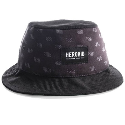 HEROKID Bucket Hat BRICKS black