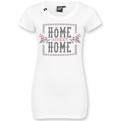 HEKTIK Girl Shirt HOME STREET HOME white