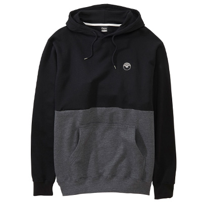 CLEPTOMANICX Hoody FIFTY-FIFTY black/dark grey