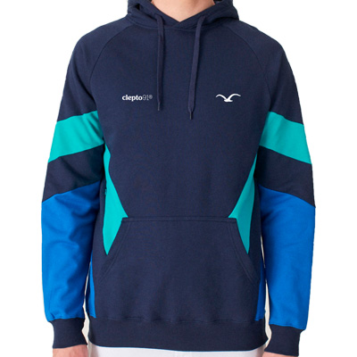 CLEPTOMANICX Hoody THAT IS THAT 2 dark navy/turquoise/blue