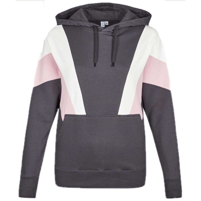 CLEPTOMANICX Girl Hoody THIS phantom black/white/rose